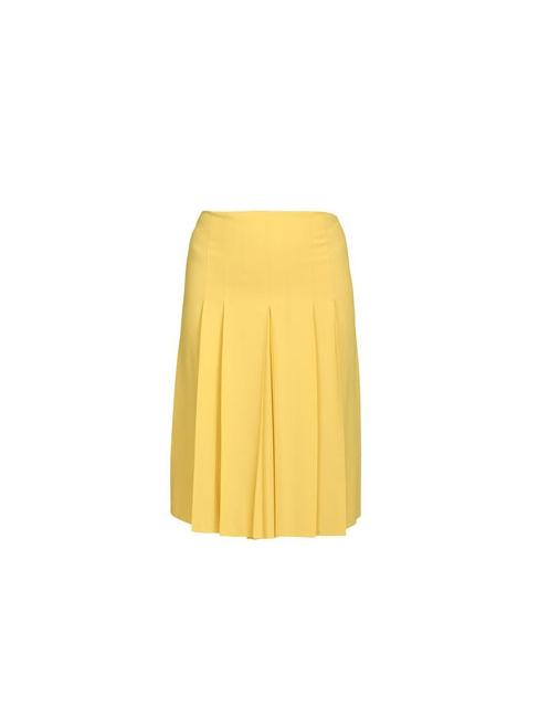 Jupe plissée en soie jaune soleil Px boutique 800€ Taille 38