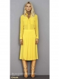 Jupe plissée en soie jaune Px boutique 800€ Taille 38