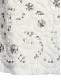 Robe Couture en soie plissée blanc ecru brodée de cristaux Swarovski Px boutique 6000€ NEUVE Taille 34