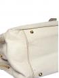 Grand sac tote Bay en cuir crème écru Px boutique 1400€