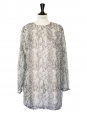 Water green and dark grey long sleeves dress Retail price €300 Size 38