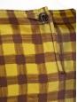 GUY LAROCHE Top manches longues en soie jaune et chocolat Px boutique 550€ Taille 38