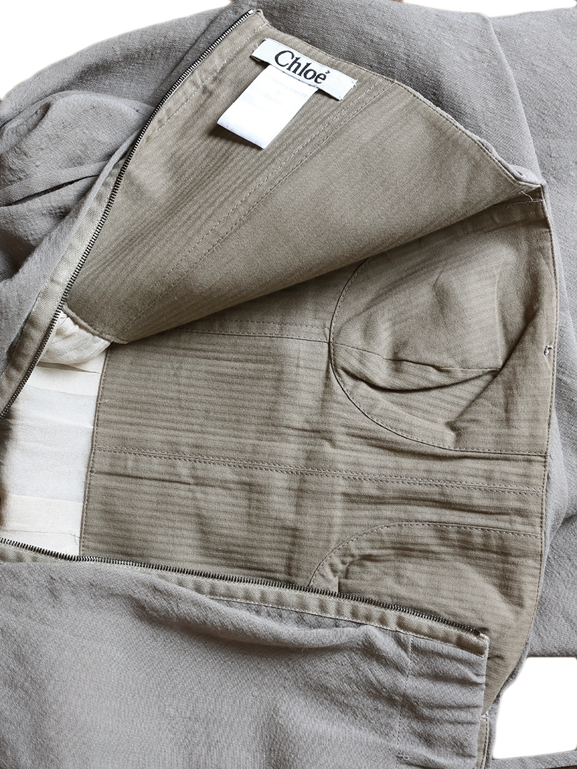 louise paris chloe robe bustier en laine soie et coton vert kaki clair px boutique 1000 size 36. Black Bedroom Furniture Sets. Home Design Ideas