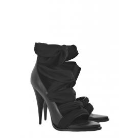 Black jersey strap open toe sandals Retail price €670 Size 38,5