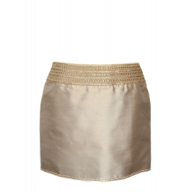 Beige trimmings and silk skirt Retail price €800 Size 40
