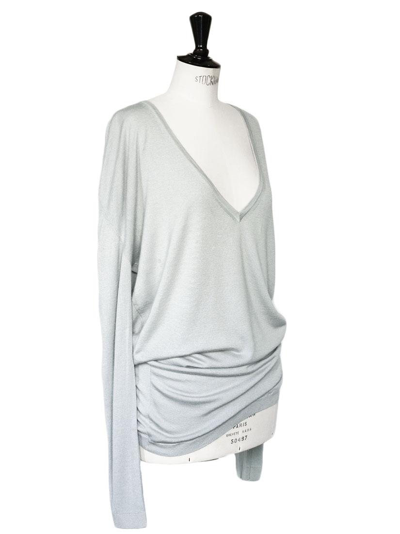 louise paris barbara bui robe pull en cachemire et soie gris bleu prix boutique 450 taille 38 40. Black Bedroom Furniture Sets. Home Design Ideas