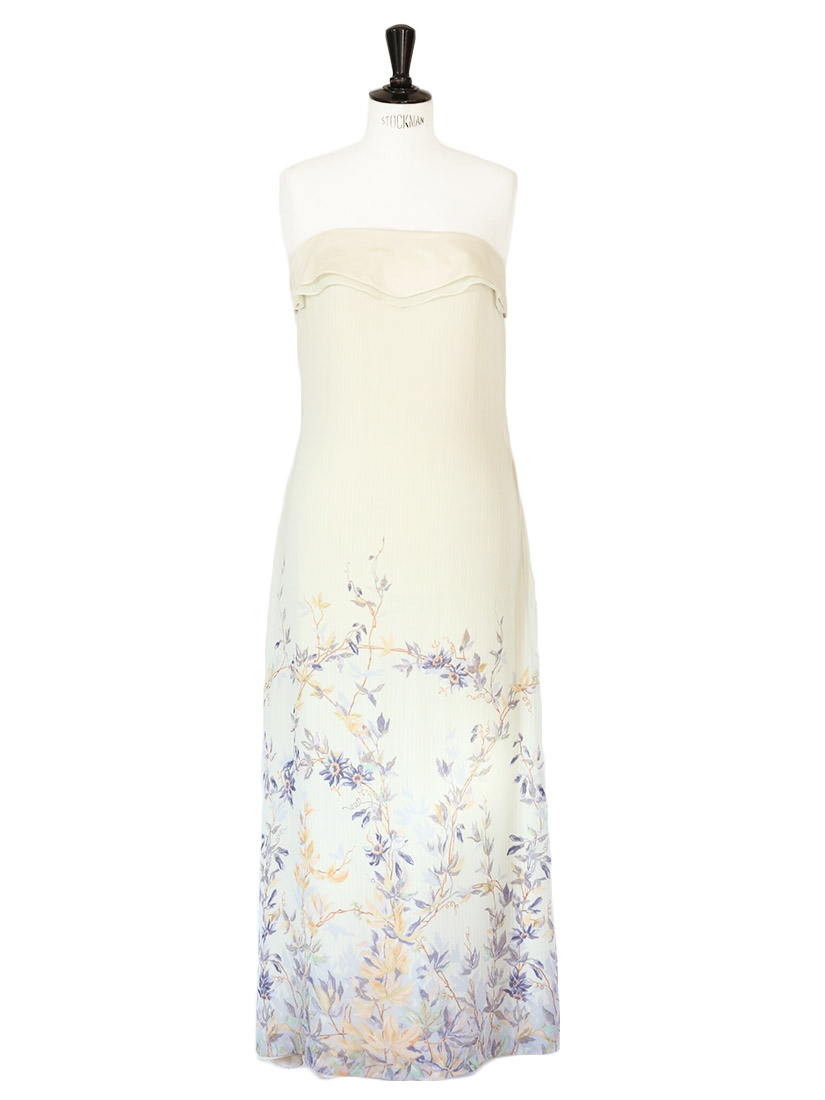 For the floral silk chiffon dress recommend you