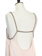 Light pink open back cocktail dress with crystal straps Retail price 1200€ Size S