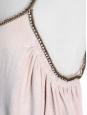 Robe de cocktail dos nu rose pâle bretelles crystal Px boutique 1200€ Taille S