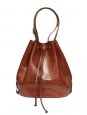 Cognac leather bucket bag Retail price €475