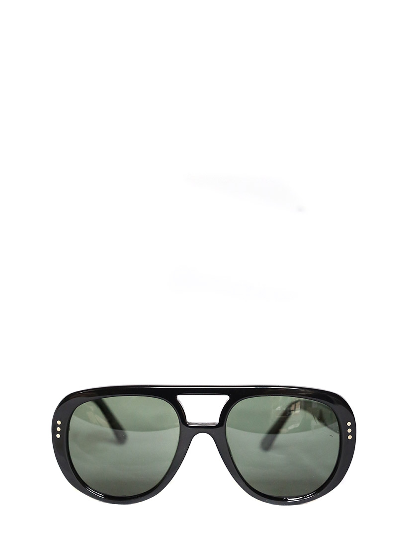 polarized lenses price  Louise Paris - CELINE Black aviator sunglasses with polarized ...