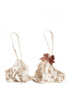 Chino ecru bow and lace bra Retail price €50 Size 85B