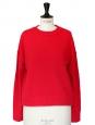 Pull RUDI col rond en cachemire rouge vif Px boutique 405€ Taille S