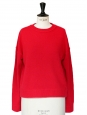 Pull Rudi col rond en cachemire rouge vif Px boutique 405€ Taille S