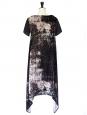 Robe JF & sons manches courtes en velours noir imprimé voie lactée Taille S