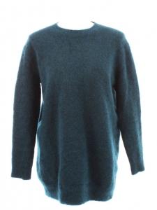 STELLA MCCARTNEY Pull sweat en mohair et laine vierge bleu canard Px boutique 600€ Taille 36