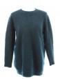 Pull en mohair et laine vierge bleu canard très doux Px boutique 600€ Taille 36