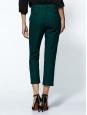 TIBI Pantalon cropped Asher Skinny Beatles vert émeraude Px boutique 300€ Taille 38