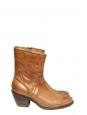 Bottes santiag en cuir camel NEUVES Px boutique 800€ Taille 39