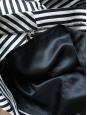 Jupe à volants en lin et coton rayé noir et blanc Taille 38