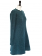 Robe en mohair et laine vierge bleu canard Px boutique 750€ Taille 36