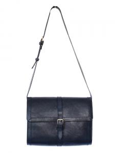 Sac besace Minimal en cuir bleu marine NEUF Px boutique 380€