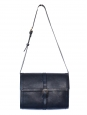 Minimal navy blue leather hobo bag NEW with tag Retail price 380€
