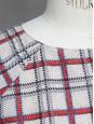 Crop top manches 3/4 imprimé écossais Taille 36