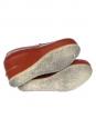 APC Mocassins compensés en cuir rouge brique Px boutique 300€ Taille 38,5