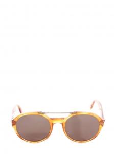 Lunettes de soleil monture aviateur écaille beige caramel Px boutique 135€