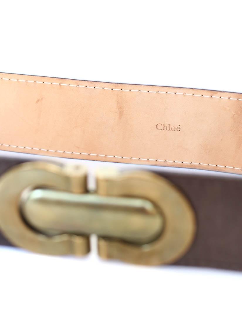 ... Ceinture large Héloïse en cuir marron à boucle clip en laiton doré Px  boutique 295€ ... 8a4eaf2386a