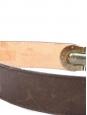 Ceinture large Héloïse en cuir marron à boucle clip en laiton doré Px boutique 295€ Taille 75