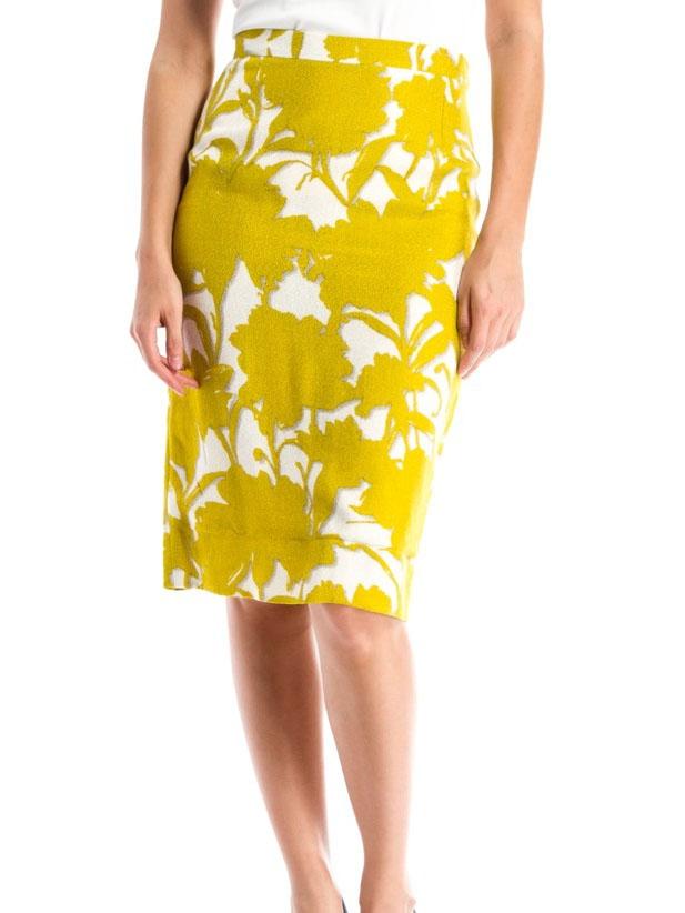Louise Paris Prada Yellow And White Floral Printed High