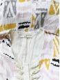 VALENTINE GAUTHIER Robe en coton imprimé ethnique rose jaune et beige Taille 34/36