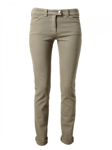 Light brown stretch cotton slim fit denim jeans Retail price €280 Size 38