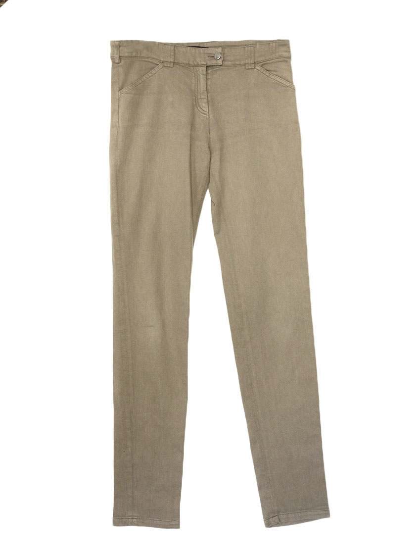 louise paris balenciaga light brown stretch cotton slim