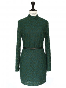 Green Harlem duchess embroidered dress Retail price €435 Size 36