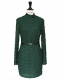 Green Harlem duchess embroidered dress Retail price €435 Size XS