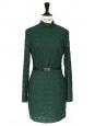 Robe Harlem Duchess en dentelle verte brodée Px boutique 435€ Taille XS