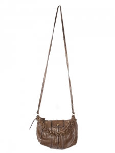 HELOISE Small crossbody bag in chestnut brown leather Retail price €600
