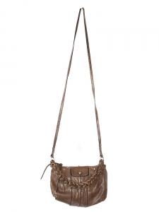 Petit sac à bandoulière Heloïse en cuir brun châtaigne Px boutique 600€