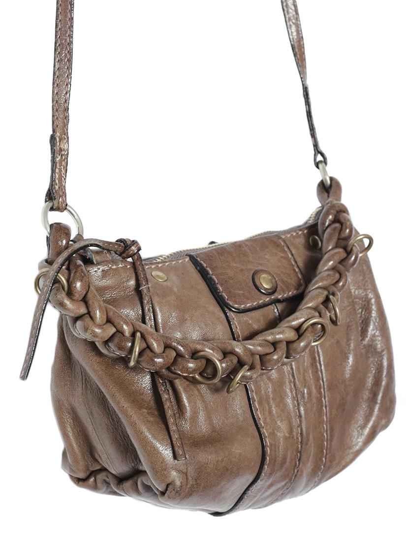 Louise Paris - CHLOE HELOISE Small crossbody bag in chestnut brown ...