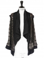 RAASTA black and silver embellished jacket Size 36