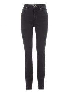 Pantalon jean NEEDLE taille haute noir gris Px boutique 190€ Taille 27/32