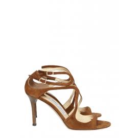 Sandales LANCE en veau velours marron muscade NEUVES Px boutique 650€ Taille 37