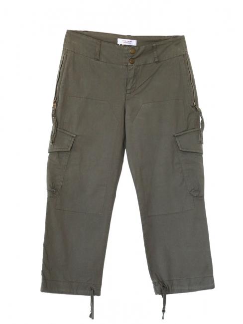 Pantalon en coton kaki style treillis militaire Taille 36