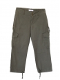 Khaki green cotton combat style trousers with side pockets Size 36