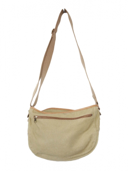 Light khaki green cotton messenger bag NEW
