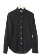 Chemise TOPMAN manches longues en coton et lin noir Taille XS