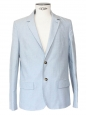 Sky blue cotton twill blazer jacket Retail price €390 Size M